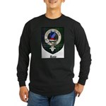 Rose Clan Crest Tartan Long Sleeve Dark T-Shirt