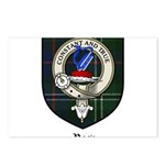 Rose Clan Crest Tartan Postcards (Package of 8)