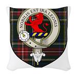 Stuart Clan Crest Tartan Woven Throw Pillow