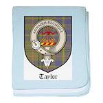 Taylor Clan Crest Tartan baby blanket