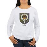 Taylor Clan Crest Tartan Women's Long Sleeve T-Shi