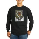 Taylor Clan Crest Tartan Long Sleeve Dark T-Shirt