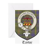 Taylor Clan Crest Tartan Greeting Cards (Pk of 10)