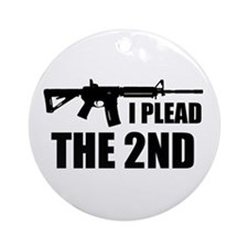 I Plead The 2nd Ornament (Round)