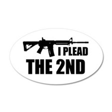 I Plead The 2nd Wall Decal