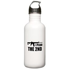 I Plead The 2nd Water Bottle