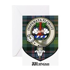 Watson Clan Crest Tartan Greeting Card