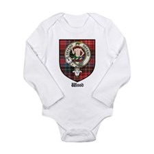 Wood Clan Crest Tartan Baby Outfits