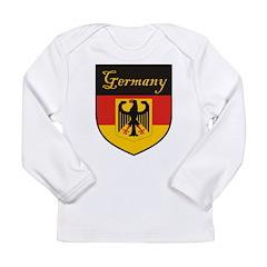 Germany Flag Crest Shield Long Sleeve Infant T-Shi