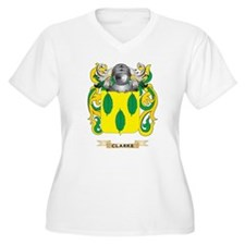 Clarke Coat of Arms Plus Size T-Shirt