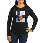 SuomiShield.jpg Women's Long Sleeve Dark T-Shirt