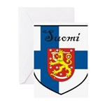 SuomiShield.jpg Greeting Cards (Pk of 10)