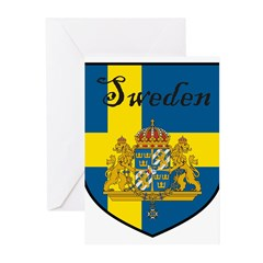 SwedenSHIELD.png Greeting Cards (Pk of 20)
