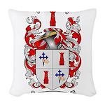 McCracken Family Crest Woven Throw Pillow