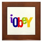 Obey The Framed Tile