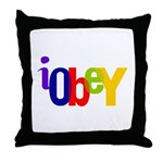 Obey The Throw Pillow