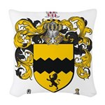 Morris Family Crest Woven Throw Pillow