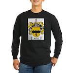 Morris Family Crest Long Sleeve Dark T-Shirt