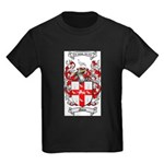 Nolan Family Crest Kids Dark T-Shirt