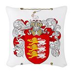 O'Brien Family Crest Woven Throw Pillow