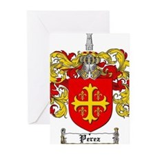 Perez Family Crest Greeting Cards (Pk of 20)