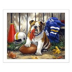 home bulldog gifts Small Poster