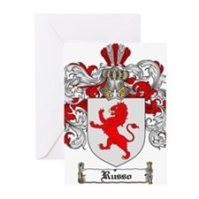 Russo Coat of Arms Greeting Cards (Pk of 10)