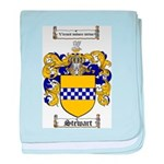 Stewart Coat of Arms baby blanket