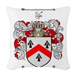 Walsh Coat of Arms Woven Throw Pillow