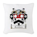 Saunders (Wexford)-Irish-9.jpg Woven Throw Pillow