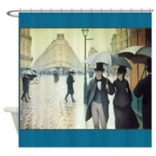 Paris on a Rainy Day Fine Art Shower Curtain