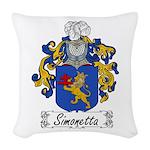 Simonetta_Italian.jpg Woven Throw Pillow