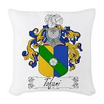 Tofani Family Crest Woven Throw Pillow