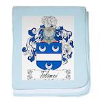 Tolomei Family Crest baby blanket