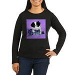 Japanese Chin Pup Women's Long Sleeve Dark T-Shirt