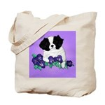Japanese Chin Pup Tote Bag