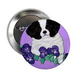 Japanese Chin Pup Button