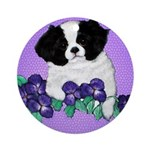 Japanese Chin Pup Ornament (Round)
