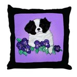 Japanese Chin Pup Throw Pillow