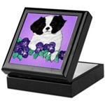 Japanese Chin Pup Keepsake Box