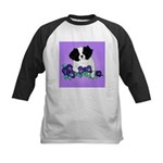 Japanese Chin Pup Kids Baseball Jersey