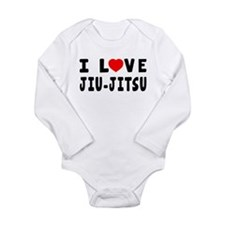 I Love Jiu-Jitsu Long Sleeve Infant Bodysuit