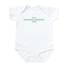 Norwegian Lundehund thing Infant Bodysuit