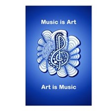 Personalizable Music is Art Treble Clef Postcards