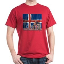 Silky Flag of Island T-Shirt
