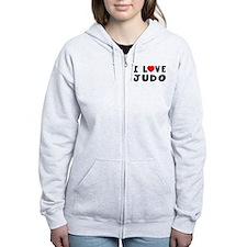 I Love Judo Zip Hoodie