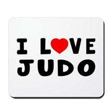 I Love Judo Mousepad