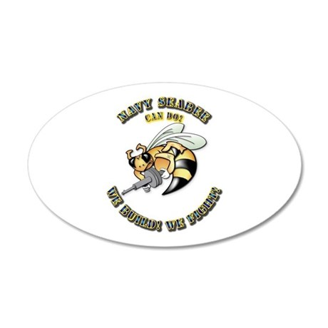 New Navy SeaBee 20x12 Oval Wall Decal