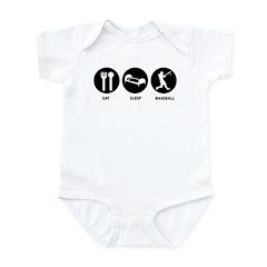 Eat Sleep Baseball Infant Bodysuit