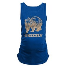 Vintage Grizzly Maternity Tank Top